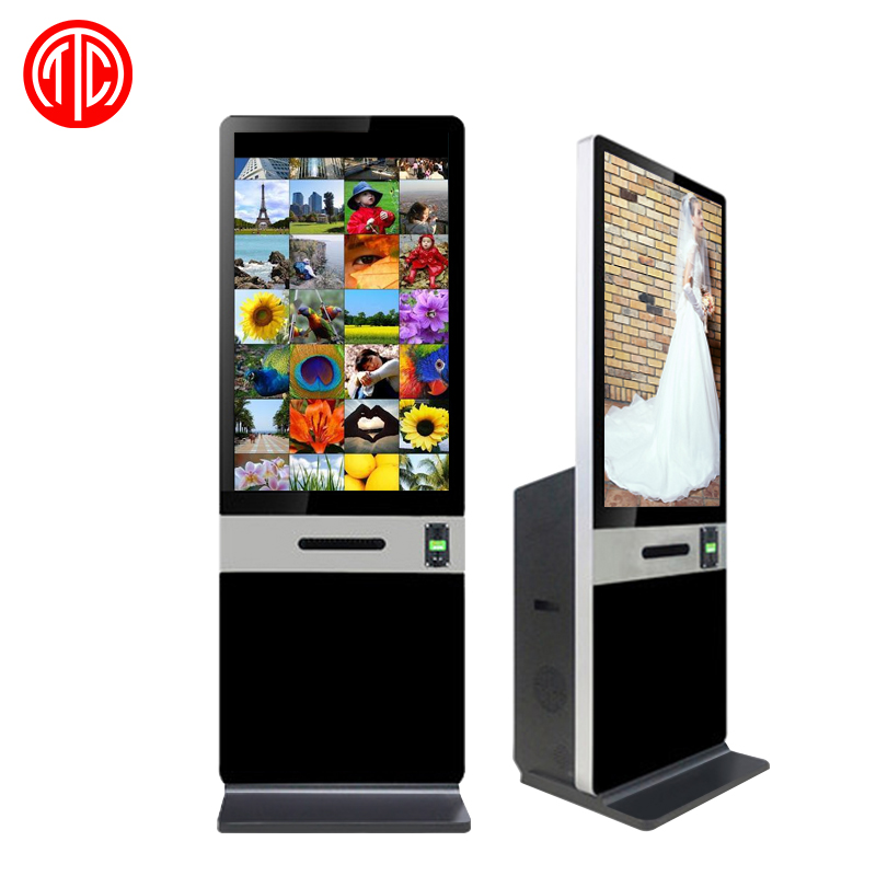 46 inch digital photo booth kiosk machine for christmas gifts promotion event