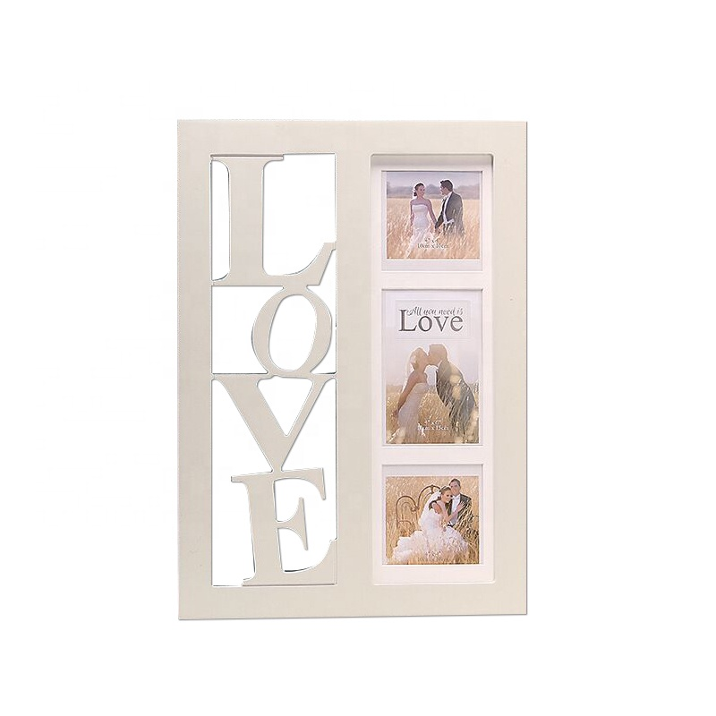New design love letter table wood photo frame with paint