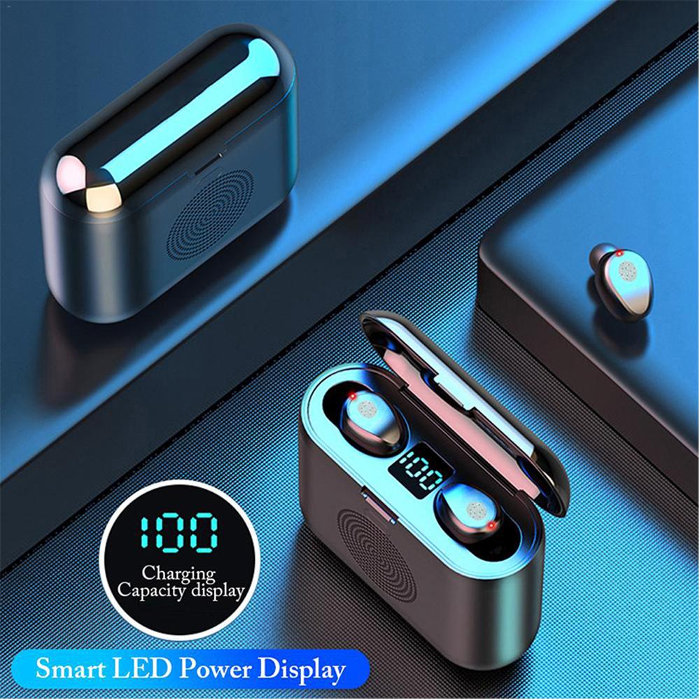 3 Em 1 tws Mini BT 5.0 fones de ouvido sem fio inteligente com speaker F9