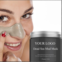 Skincare Moisturizing Peeling Peel Off Clay Facial Face Skin Care Smoothing Whitening Volcanic MagnetสีดำDead Sea Mud Mask