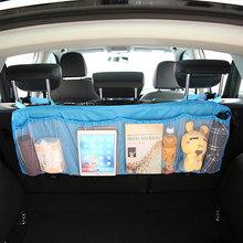 Автомобильный багажник на заднее сиденье Органайзер сумка сетка для внедорожника сетка для хранения складные карманы для мусора Автомобил...(Китай)