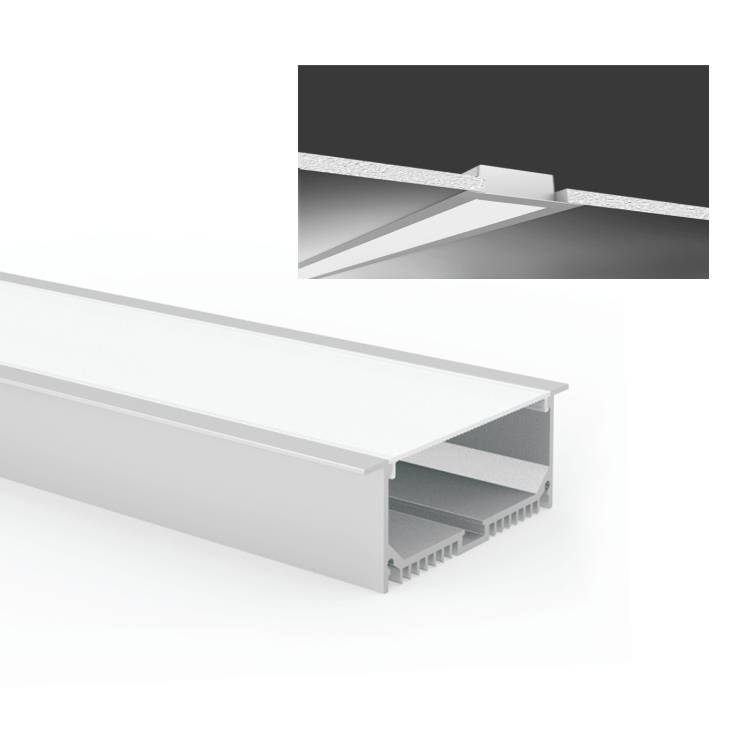 HLINEAR LR9032-1000 Seamless Purified Aluminum Linkable Ceiling Mount Direct Linear light For Commercial and Retail Application