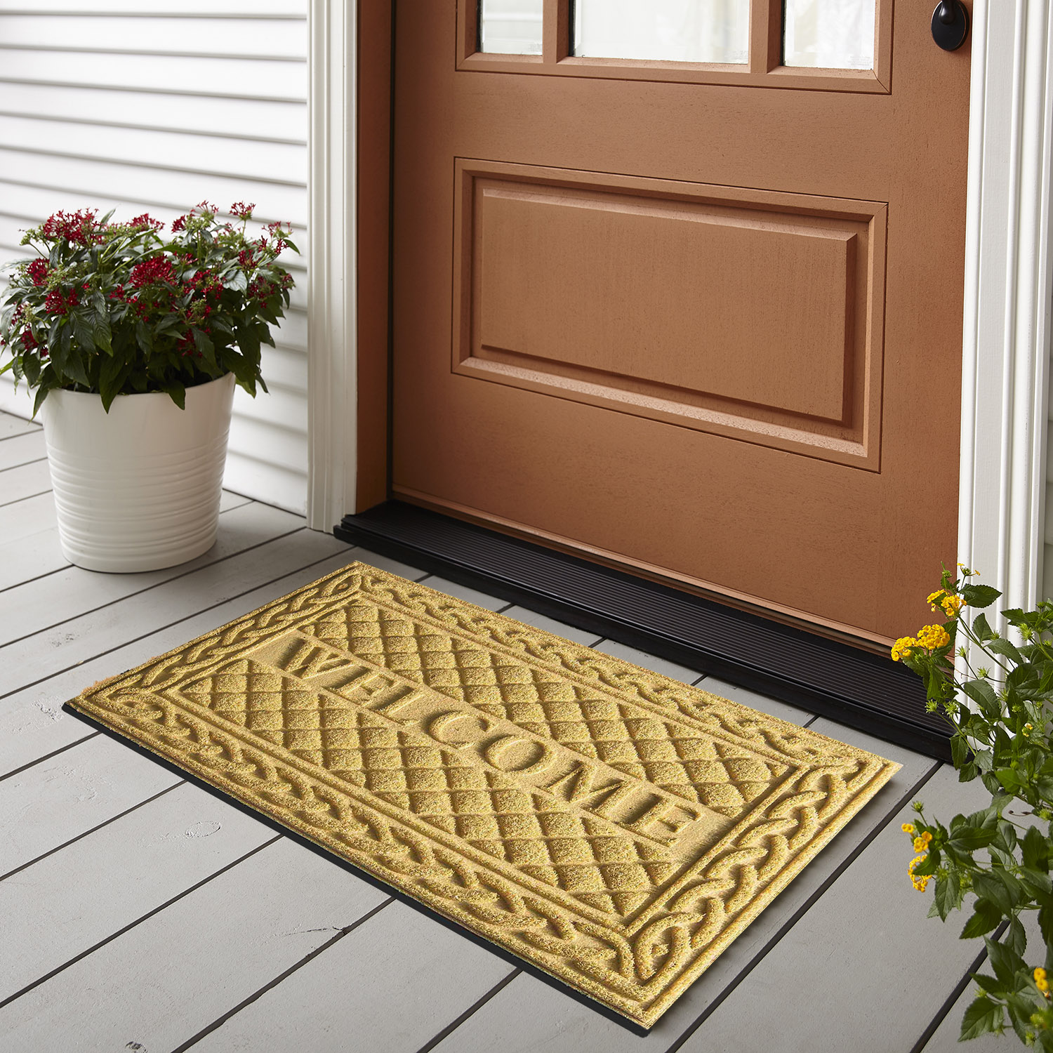 Non Slip Entrance Door Black Traffic Large Rubber Mats with Rubber 60x90