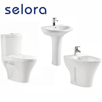 Home use toilet/bidet/pedestal basin bathroom sets from chaozhou factory