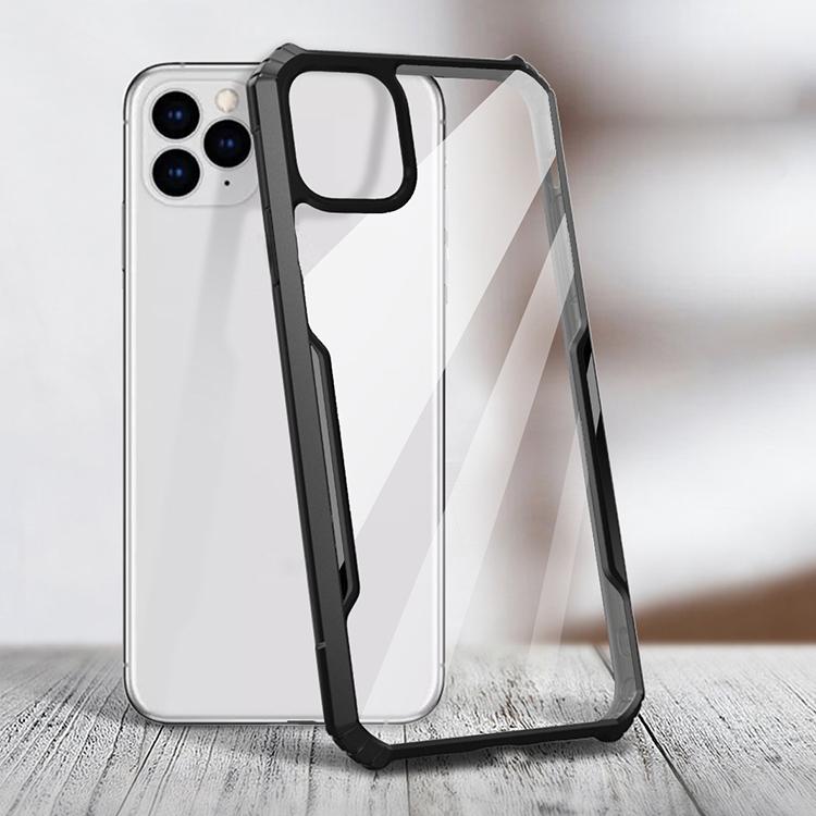 Kualitas Tinggi Menutupi Belakang Akrilik TPU Sel Hitam Telepon untuk iPhone 5 6 7 8Plus X XS 12 11 Pro Max SE 2020