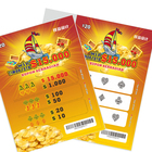 OEM custom lottery ticket with pull tab printing
