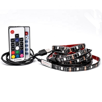Czinelight Wholesale IP20 60leds/m 10mm Width 5V USB LED Strip 5050 TV Background Lighting RGB LED strip Adhesive Tape IP65
