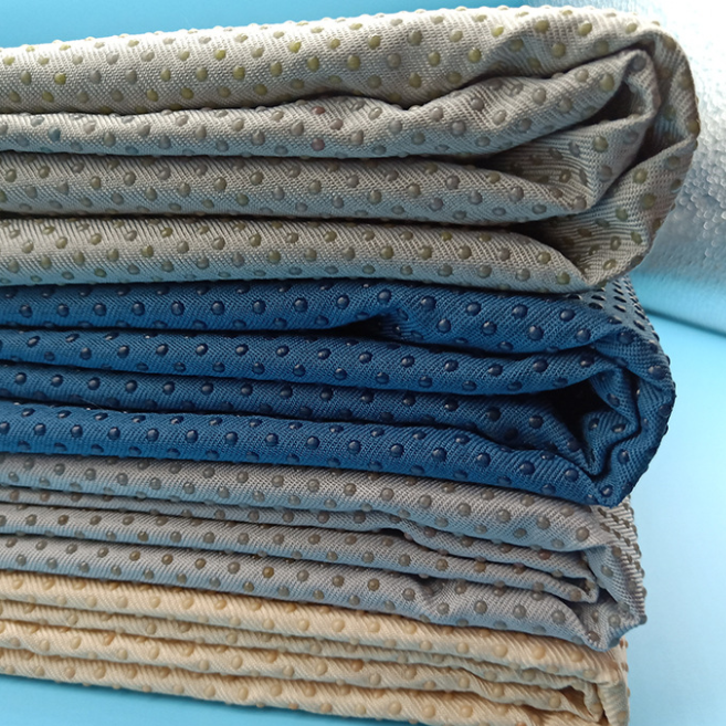 Korea market most popular mattress fabric 100% polyester dotted nonslip fabric/Anti Slip Fabric