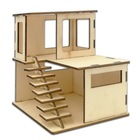 Wooden Craft Material 3D Milky House Set, Wooden DIY Milky House Set For Children