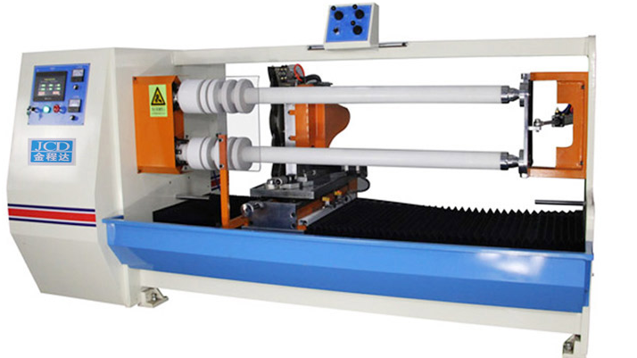 Automatic double shafts PVC Tape,  PET tape and masking tape cutting machine