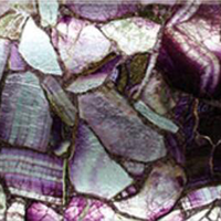 Natural Stone Purple Agate Slabs Shape Glass Tiles