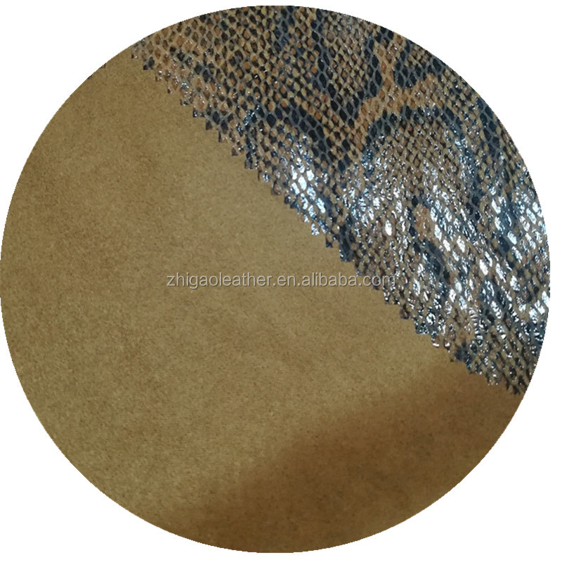 suede embossed polyester pu leather fabric for garments outerwears coats jackets