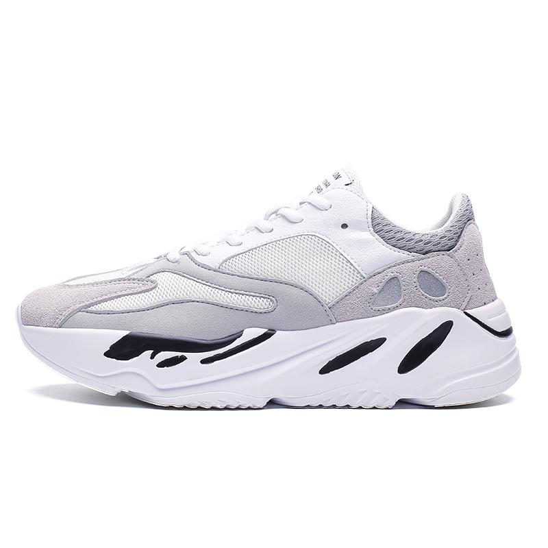 custom white men's sports shoes men's trainers fashion  platform sneakers wholesale