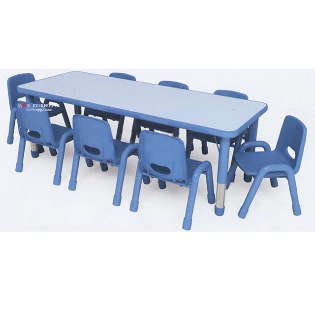 बच्चों के फर्नीचर बालवाड़ी सैलून उपकरण स्कूल की मेज और कुर्सियों
