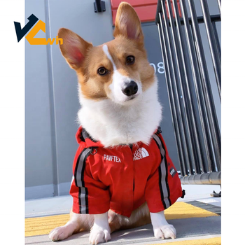2019 new design fashion Pet Dog Rain Coat for Dog Jacket with US flag