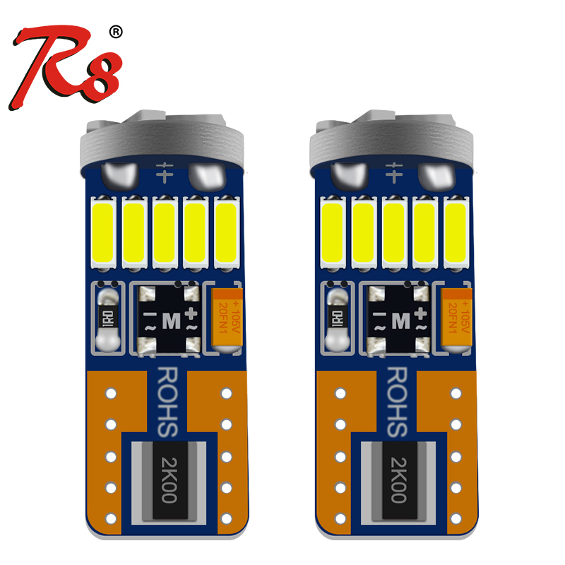 Hot Sale Led T10 W5W SMD Canbus 4014 15smd Light Lamp Instrument Bulb Door Lamp Error Free 194 501 2825 192 194 168 led