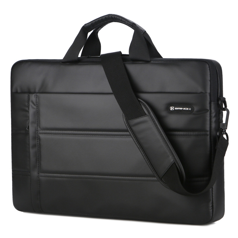 Wholesale 15.6 Inch high quality PU waterproof Computer Messenger Laptop Bag