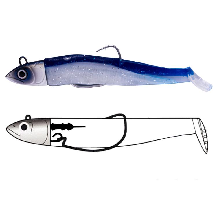 silicone fishing lure Jig Head Sinking Minnow Fishing Lure Soft Shad Jigging Bait, Vavious colors