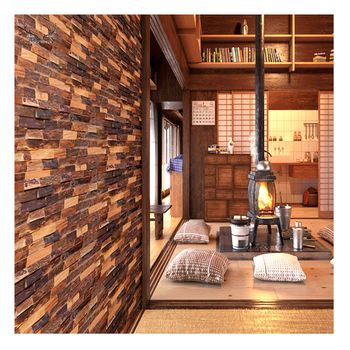 Living room wood 3d wall panel interior wall panel design