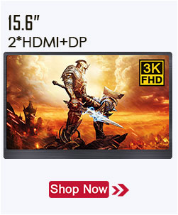 Ultra dünne 12,5 zoll IPS tragbare monitor 4K LED-display mit DP für HDMI PC laptop monitor gaming monitor full HD