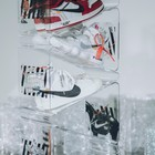 factory custom removable acrylic shoe display box