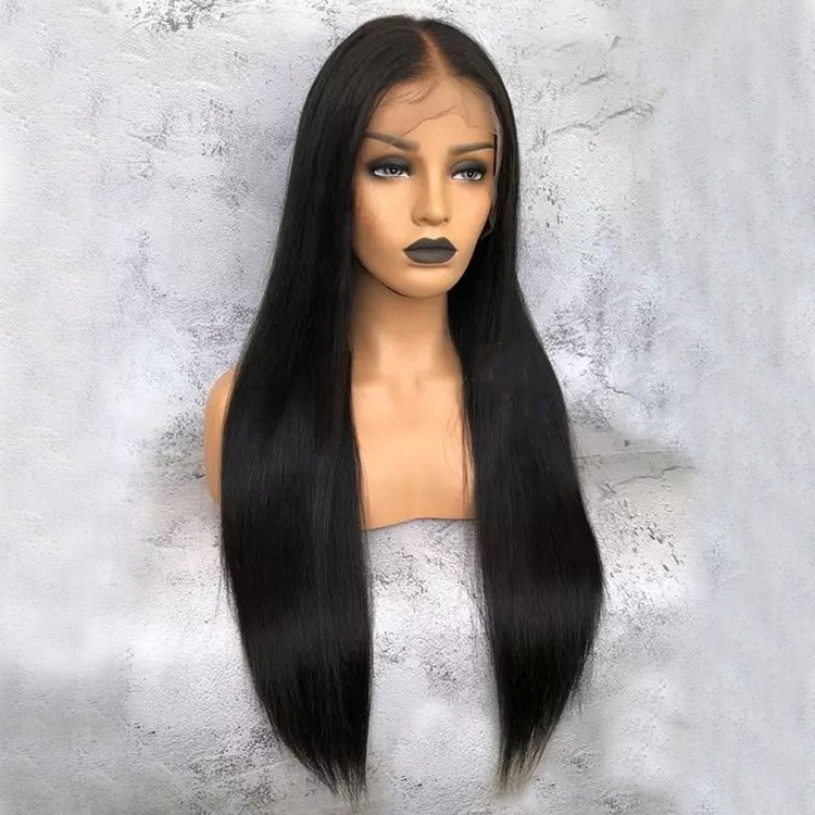 13x6 Brazilian Lace Front Wig, Mink Brazilian Hair Wig For Black Women, Pre Plucked Straight Lace Wig Bleached Knots