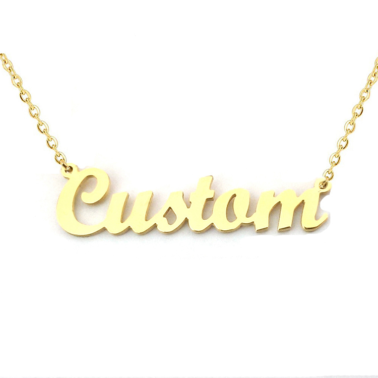 18 k 금 Plated Stainless Steel necklace customize name 목걸이