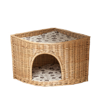 China handmade wicker bed pets dog baskets willow cat house