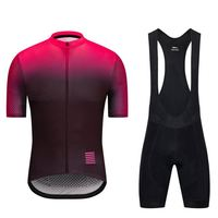 High Quality Unisex Bicycle Clothing 100% Polyester Triathlon Suit Cycling Wear Summer Cycling Set Gradient Color For Men Women