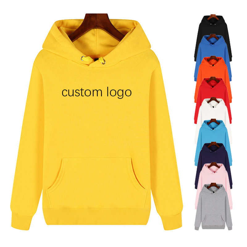 Cheap high quality custom logo print superme pullover oversize black white plain blank cotton polyester unisex men women <strong>hoodie</strong>