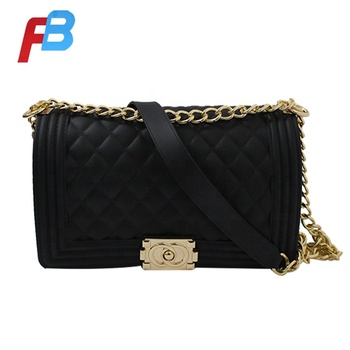 Matte style solid new design PVC sling cross body bag women jelly bag