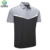 Custom 85% polyester 15% spandex moisture wicking dry fit fabric mens golf short sleeve polo t shirt