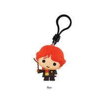 PESONALIZABLE COOL PLASTIC BAG CHARMS PRESENT 3D MOVIE CARTOON CHARACTER IMAGE HARRY POTTER CLIP BAG KEYCHAIN FOR GIRL FRIEND
