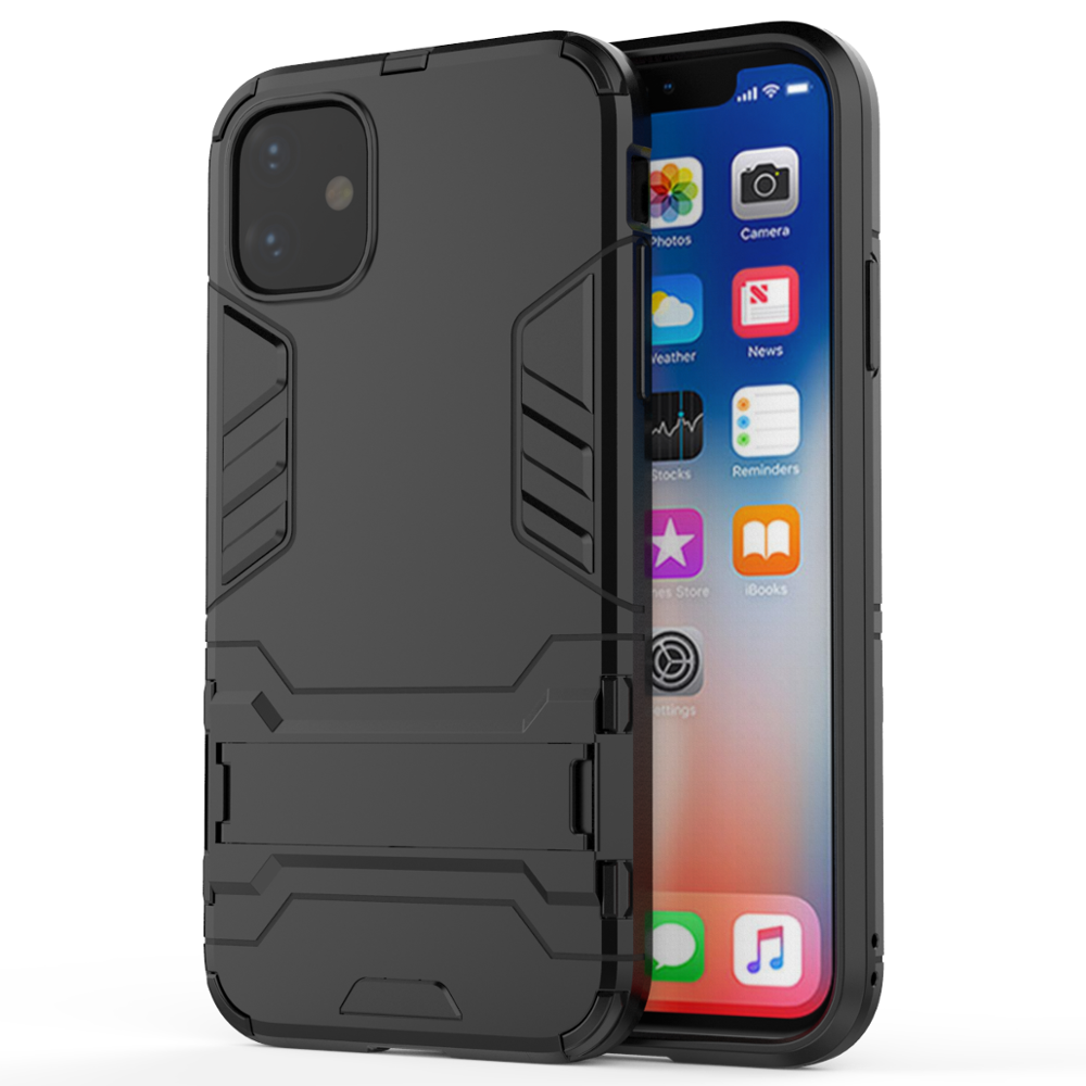 Voor iPhone 11 2019 TPU PC Crystal Kickstand Shockproof Hard Telefoon Case Voor iPhone 11 2019 Case