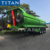 TITAN u shape half pipe dump semi trailer rear end u shape tippers hydraulic semi tipper for sale