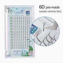 Длинные ресницы Yelix, готовые объемные вееры 2D/3D/4D/5D/6D для наращивания ресниц русского объема, Индивидуальные ресницы из искусственной норки(China)