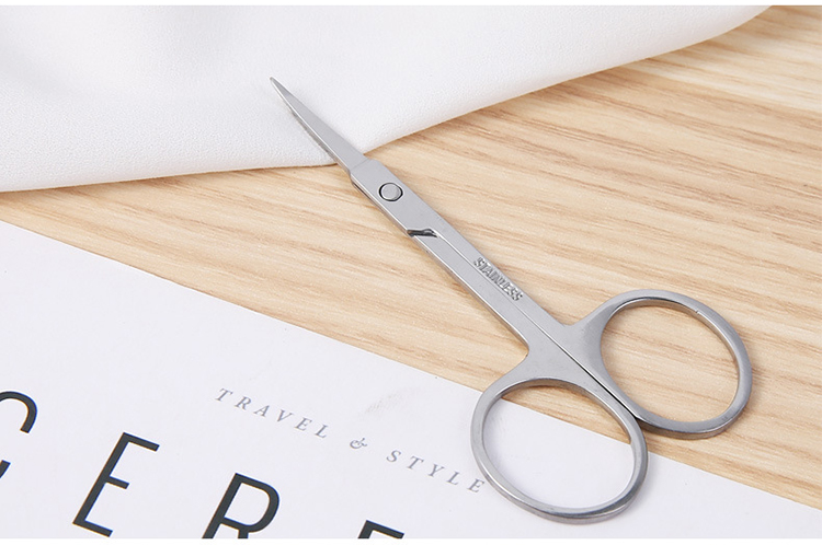 Wholesales stainless steel  point head eyebrow grooming scissors eyebrow scissors beauty tool