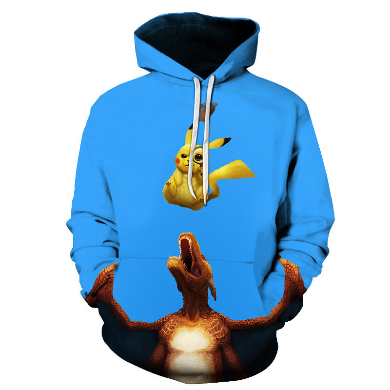 Custom Logo Capuchon Pikachu Mode mannen Hooded Pokemon Cartoon 3D Print Unisex Hoodies Straat Casual Sportswear Pikachu Hoodie