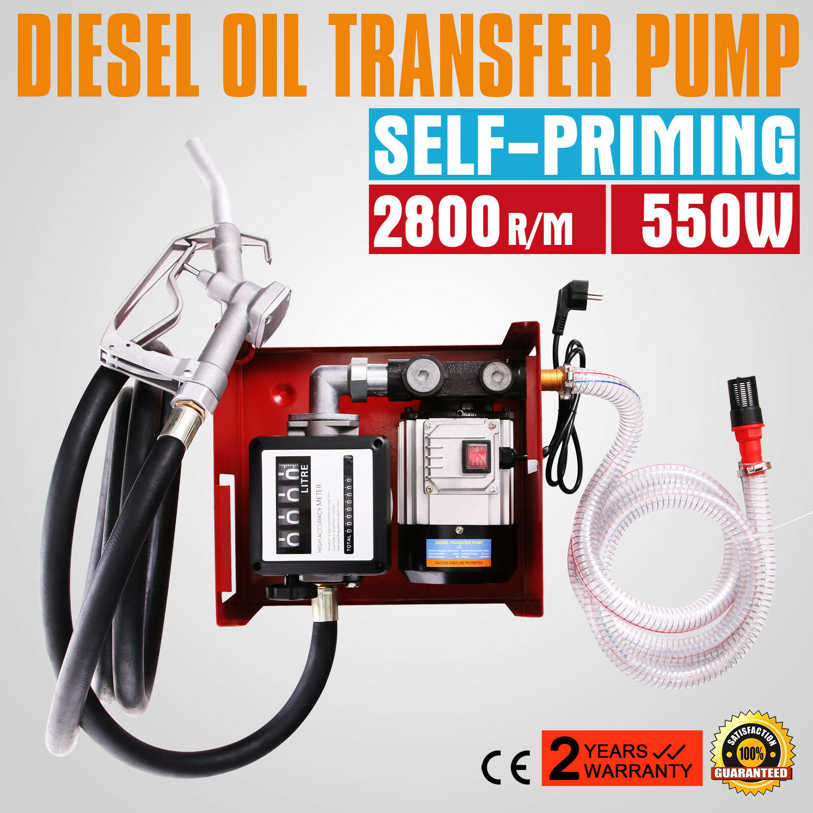 12V Electric Fuel Self-Priming Transfer Pump Bio Oil Pump Fuel Transfer Pump