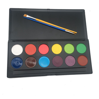 Face paint 12 Color, 2 Brushes non-toxic Face Paint Set for Kids Vibrant Water Based FDA