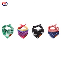 Dog Puppy Bandanas Adjustable Dog Neck Scarf triangular Bandage for Middle Dog Collar