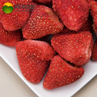 With Strawberry LUJIA FDFOOD US$35 Per Carton Shipping Cost To Malaysia Whole Or 5-7mm/slice With Sugar Fruit Snacks Freeze Dried Strawberry