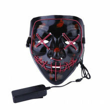 E120 Halloween Masquerade LED Light Up <span class=keywords><strong>Masker</strong></span> Rave Cosplay <span class=keywords><strong>Horror</strong></span> Party LED <span class=keywords><strong>Masker</strong></span> Party