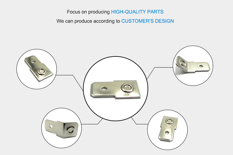 Factory custom cable connecting cable lug copper connector electric terminal