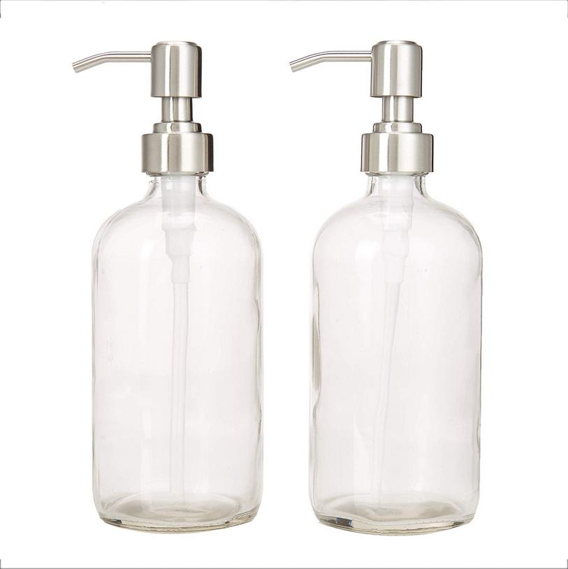 28mm-400 stainless steel pump soap dispenser for boston round bottle