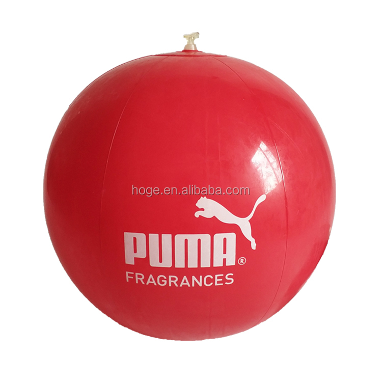 HOGE Inflatable TPU Red Beach Ball With Logo