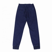 Blue goods low price navy elastic waist office jogger sweat pants men trousers