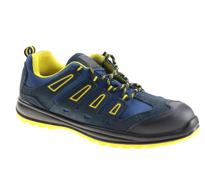 Low cost steel toe lightweight chemical resistant  men construction work industry safety shoes