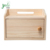 2 Tier Wood Storage Box Organizer Rack Shelf for Router Games Consoles