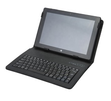 RFY-ANRY Nirkabel Bluetooth <span class=keywords><strong>Keyboard</strong></span> dengan Leather Case Cover untuk 4.5-6.5 Inci Tablet dan Telepon